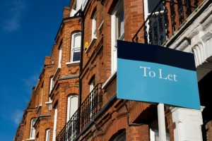 A to let sign outside a house