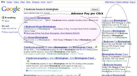 Google Adsense for Estate agents screenshot